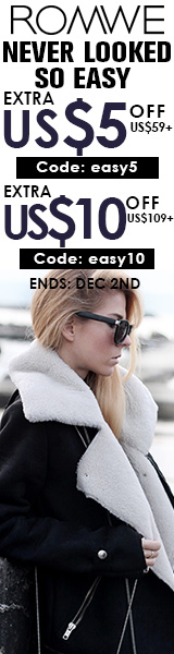 Save up to $10 off orders $109+ at ROMWE.com.  Click for details - ends 12/2