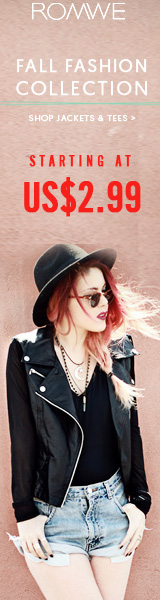 Fall Fashion Jackets  Tees Sale - All items starting at $2.99 at ROMWE.com! Ends 8/29