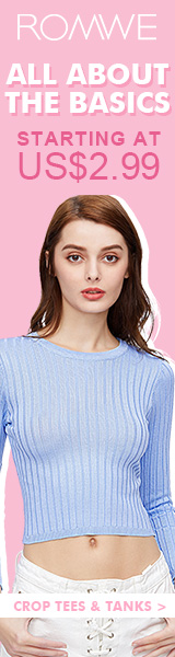 Basics Sale at Romwe.com - All included items starting at $2.99!  Sale ends 4/3