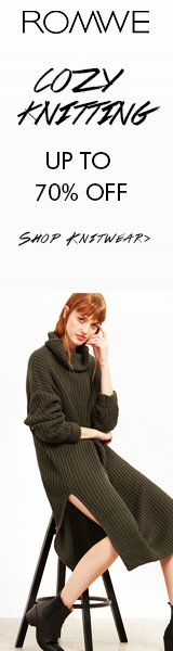 Cozy Knit Sale at Romwe.com - All included items are reduced up to 70%!  Sale ends 10/24