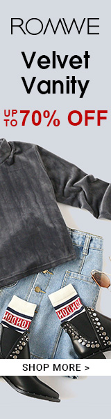 Velvet Sale - All included items up to 70% off at ROMWE.com! ends 1/30