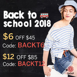 OASAP Sale for Back to School 2018