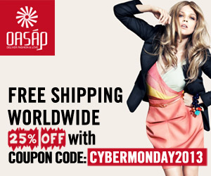 Save 25% off from Oasap.com with coupon code: cybermonday