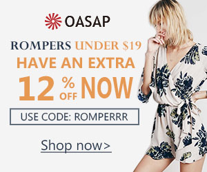 Have an extra 12% off all rompers now with coupon code ROMPERRR. Free shipping, no minimum.
