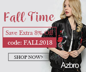 AZBRO Extra 8% Off on All Fall Clothing