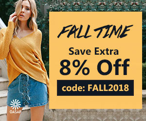 OASAP Extra 8% Off on All Fall Clothing