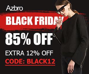 Azbro Black Friday Extra 12% Off on Sale