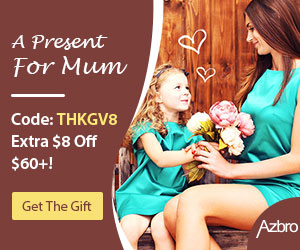 Dearest Mummy, I love you more than I can say. Choose the present with code THKGV8 on AZBRO, to save $8 for all orders over $60.