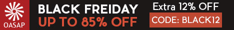 OASAP Extra 12% Off on Black Friday Sale