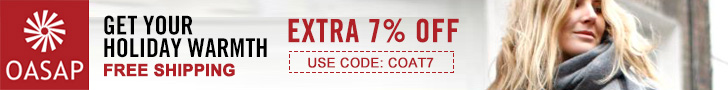 Get your holiday warmth EXTRA 7% OFF USE CODE:COAT7