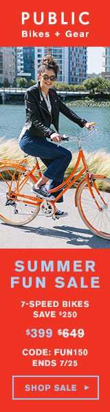 Summer Fun Sale from PUBLIC Bikes! Save $150 on select bikes. Shop Now!