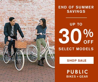 Ready, Set, Summer Sale. Shop Now and Save Up to 30% OFF Select Models at PUBLIC Bikes Through Monday, 6/12. Women's and Men's Bikes Starting at $299. Quantities Limited.