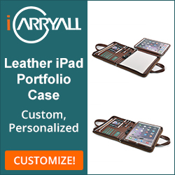Customize Leather iPad Portfolio Case