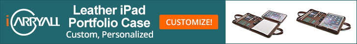 Customize Leather iPad Portfolio Case