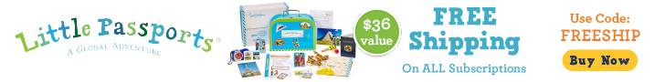 Little passports banner is a home delivery for your child