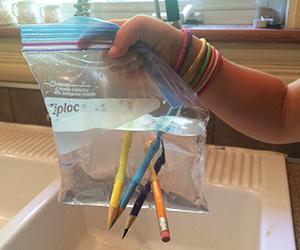 Create a leak proof bag
