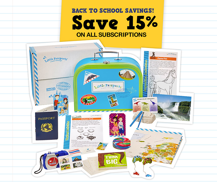 Exclusive Back to School Offer from Little Passports