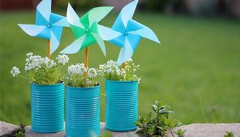 Earth Day Pinwheels mylearningtable.com