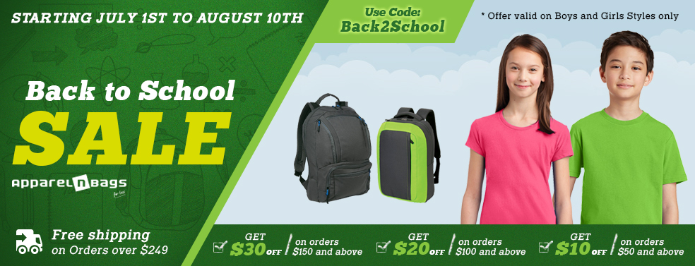 ApparelnBags Back to School Promotion