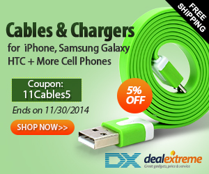 iPhone, Samsung Galaxy, HTC, Cell Phone Cables & Chargers 5% OFF + Free Shipping. Coupon:11Cables5