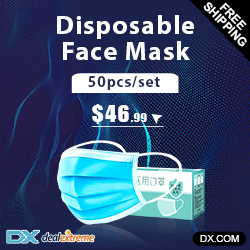 DX.com - Disposable Face Mask 50 pcs- $46.99 (in stock) - Free Shipping