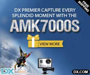 Amkov 7000S 1080P HD Wi-Fi Sports Camera w/ Remote Controller  + Free Gifts at $99.99 Only