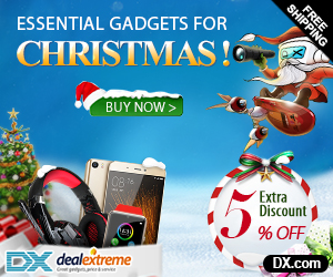 Extra 5% OFF on Christmas Gifts of Cell Phone, RC Quadcopters, VR 3D Glasses, Watches, Earphones, LED bulb, Decoration Gadgets + Free Shipping. Coupon: xmas2016
