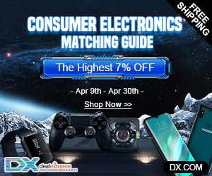 Extra 7% OFF on Consumer Electronics + Free Shipping