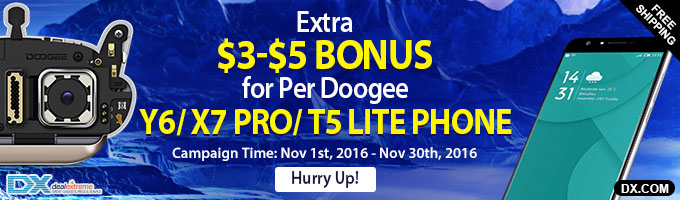 Extra $3 Bonus for every Doogee Y6 Phone(SKU852449024, SKU852449030, 852449029, SKU852449028 )/ X7 Pro Phone (SKU852449027, SKU852449026, SKU852449025)/ T5 Lite Phone(SKU852448826) + Extra $5 Bonus for every phone once referral 10 units or more