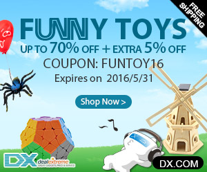Funny Toys Up to 70% OFF + Extra 5% OFF . Coupon: FUNTOY16