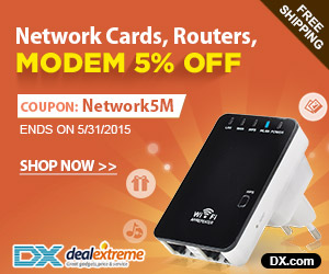 Network Cards, Routers,  Modem 5% OFF. Coupon: Network5M