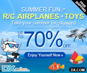 70% OFF on RC Airplanes & Toys + Free Shipping