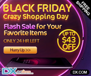 DealExtreme - Black Friday Extra $100 OFF + Up to 10% Refunds, 24 Hours Only