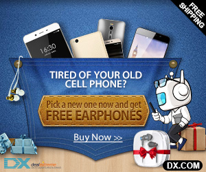 Free Value $11 Earphones Giveaway with Cellphone of XIAOMI, LENOVO, MEIZU, HUAWEI, ZOPO, LETV,  ASUS, ONEPLUS. Coupon: 160310FN47