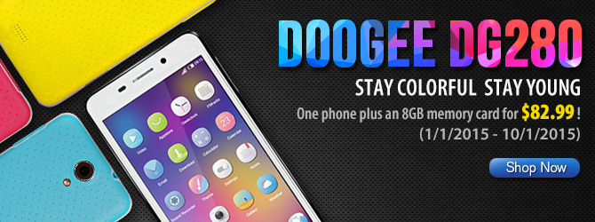 """Doogee 280 4.5"""" Quad-..."""