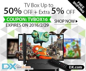 TV Box Jusqu'à 50% OFF + Extra 5% OFF Coupon: TVBOX16