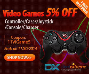 5% OFF On Video Games Controller,Cases,Joystick,Console,Charger + Free Shipping. Coupon:11ViGame5