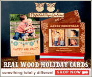 Real Wood Holiday Cards