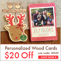 Personalized Wood Holiday Cards