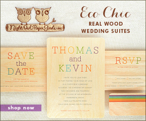 Real Wood Wedding Suites by Night Owl Paper Goods