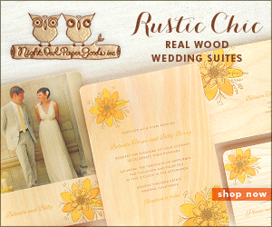 Rustic Chic Real Wood Wedding Suites by Night Owl Paper Goods