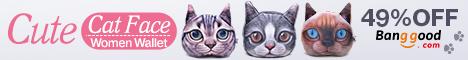 Shop Cute Cat Face Wallet