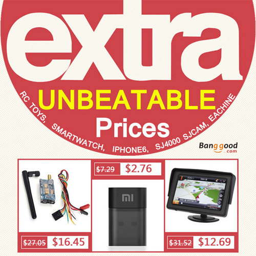 EXTRA UNBEATABLE Prices on Banggood.com