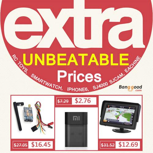 EXTRA UNBEATABLE Prices on Banggood.com