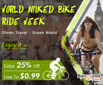 25% OFF Sports Promotion for World Naked Bike Ride