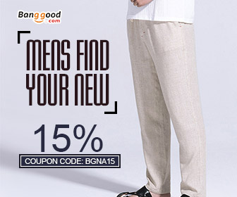 15% OFF for Men's New Arrival Clothing Collection