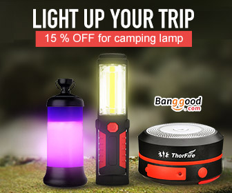 15% OFF for Camping Light Products