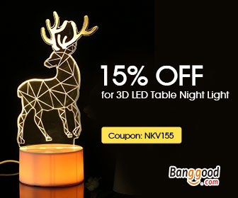 15% OFF for 3D LED Table Night Lamp Promotion from BANGGOOD TECHNOLOGY CO., LIMITED