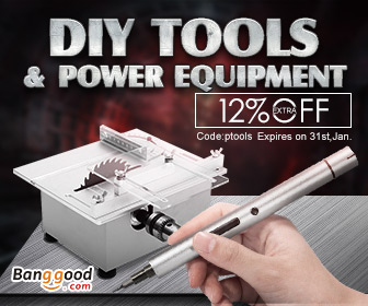 Up to 82% OFF for Power Tools&DIY Equipment with Extra 12% OFF Coupon