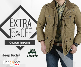 15% OFF for Mens Brand Clothing Promotion